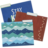 School Shop, Wander Ridge File Folders, 3 Assorted Designs, Multi-Colored, 12 Count