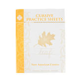 Memoria Press, Cursive Practice Sheets New American Cursive, Paperback, 74 Pages, Grades 1-3