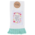 Brownlow Gifts, Friends Gather Here Tea Towel, Cotton, White and Turquoise, 18 x 28 inches