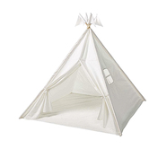 HearthSong, Indoor Play Tent with Sewn-in Floor & Interior Light, White, 4 Feet