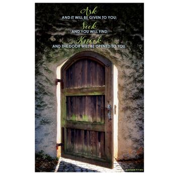 Salt & Light, Ask Seek Knock Church Bulletins, 8 1/2 x 11 inches Flat, 100 Count