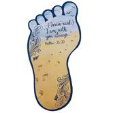 CTA, Inc., Matthew 28:20, Footprint-Shaped Bookmark with Poem, 2 1/4 x 4 5/8 inches