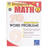 Carson-Dellosa, Singapore Math 70 Must-Know Word Problems Level 2 Workbook, Reproducible, Grade 3