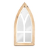 Modern Vintage, Tall Cathedral Windowpane Tabletop Mirror, MDF & Glass, 12 1/4 x 6 inches