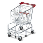 Melissa & Doug, Shopping Cart Toy, Metal, 23 1/4 x 15 x 11 3/4 inches, Ages 3 to 6