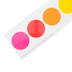 Schoolgirl Style, Rainbow Big Dots Straight Borders Trim, 36 Feet, Multi-Colored