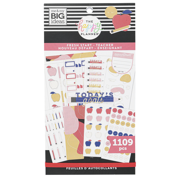 MAMBI The Happy Planner Value Pack Stickers Fresh Start Modern Teacher, Multi-Colored, 1109 Pieces