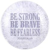 Renewing Faith, Faith & Fellowship Joshua 1:9 Paper Plates, Large, Stone, 10 1/2 Inches, Pack of 20