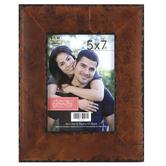 Rustic Wood Photo Frame, 5 x 7 inch, Brown and Black Veneer
