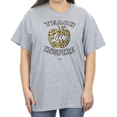 Kerusso, Teach Love Inspire, Women's Short Sleeve T-shirt, Athletic Heather, S-3XL
