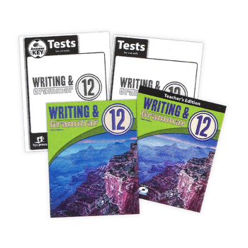 BJU Press, Writing and Grammar 12 Complete Subject Kit, 3rd Edition, Grade 12