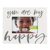 Green Tree Gallery, You Are My Happy Photo Frame, Holds 6 x 4 inch Photo, 7 1/2 x 9 1/2 x inches