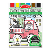 Melissa & Doug, Paint with Water Art Pad Vehicles, Paperback, Ages 3 -5, 20 Pages