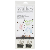 Wallies, Peel and Stick Hang It Up - Binder Clips Decals, 1.88 x 0.63 Inches, 20 Pieces