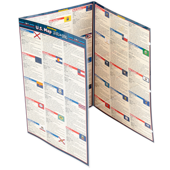 BarCharts Inc, U.S. Maps States and Cities, Quick Study Academic Guide, Laminated, Grades K-Adult