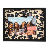 Green Tree Gallery, Leopard Print Photo Clip Frame, Holds 6 x 4 inch Photo, 9 x 7 x 3 1/2 inches