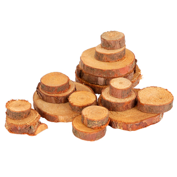 Lumberjack Pine Wood Discs, Brown, 13 Count