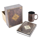 Christian Art Gifts, 1 Timothy 6:11 Man of God Mug and Journal Gift Set, Brown and Gold, 2 Pieces