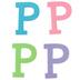Glitter Foam Alphabet Letter Upper Case - P, 4 x 5.5 x .50 Inches, 1 Each, Assorted Colors
