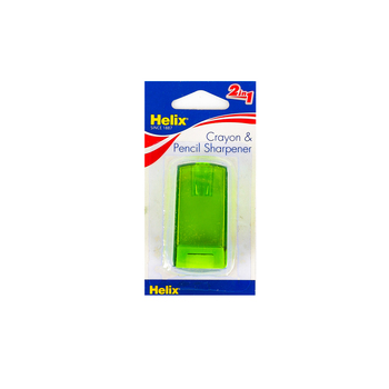 Helix, 2-in-1 Crayon and Pencil Sharpener, 2.12 x 1.12 x .75 inches, Assorted Colors, 1 Piece