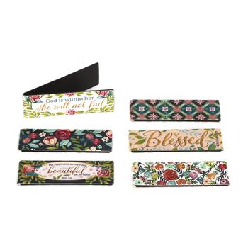 Salt & Light, Blessed & Beautiful Feminine Magnetic Bookmarks, 6 Bookmarks