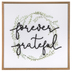 Designs Direct Creative Group, Forever Grateful Framed Art, MDF, 24 x 24 inches