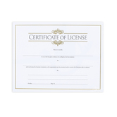 Broadman Church Supplies, Certificate of License for Ministers, 11 x 8 1/2 inches, Set of 6