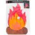 Paper Campfire Decor, Paper, Orange, 11 x 16 Inches, 4 Count