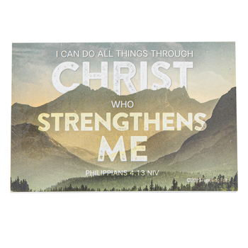 Renewing Faith, Philippians 4:13 I Can Do All Things Pass Along Cards, 2 x 3 inches, Set of 10
