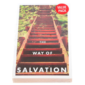 Salt & Light, The Way of Salvation Gospel Tracts, 5 1/4 x 3 1/2 inches, Set of 50 Tracts