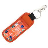 Brownlow Gifts, Be Happy Pocket Keychain, Neoprene, Orange, 6 1/2 x 2 1/4 x 1/2 Inches