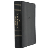 NASB MacArthur Study Bible, Imitation Leather, Thumb Indexed, Multiple Colors Available
