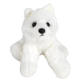 Aurora, Mini Flopsies, White Wolf Stuffed Animal, 8 inches