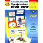Evan-Moor, History Pockets The American Civil War Teacher Reproducible, Paperback, 96 Pages, Grades 4-6