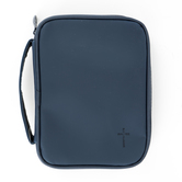 Dicksons, Cross Compact Bible Cover, Vinyl, Navy