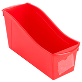 Storex, Large Book Bin, Red, 14.30 x 5.30 x 7 Inches, 1 Piece