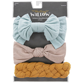 Whistling Willow, Infant Headband Set, Light Turquoise/Beige/Mustard, One Size Fits Most, 3 Pieces
