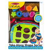 Melissa & Doug, Ks Kids: Take-Along Shape Sorter, Ages 9 Months & Older, 10 Pieces
