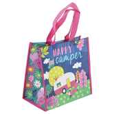 Stephen Joseph, Happy Camper Woodland Recycled Gift Bag, 9 1/2 x 9 x 5 1/2 inches