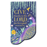 Salt & Light, Psalm 136 Give Thanks Peacock Magnetic Bookmark, 2 1/4 x 3 3/4 inches
