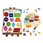 Renewing Minds, Colors and Shapes Mini Bulletin Board Set, 46 Pieces