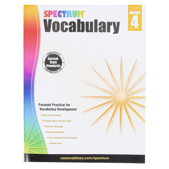 Carson-Dellosa, Spectrum Vocabulary Workbook, Paperback, 160 Pages, Grade 4