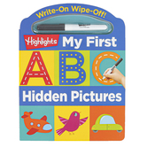 Highlights, Write-On Wipe-Off My First ABC Hidden Pictures Board Book, 24 Pages, Preschool Ages 3-5