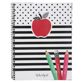Schoolgirl Style, Black, White and Stylish Brights Teacher Planner Book, 12-Month, 8.38 x 10.9 Inches