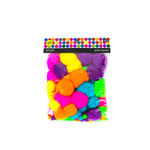 Tree House Studio, Pom Poms Value Pack, 1/2 to 2 inches, Assorted Colors, 100 Pieces