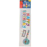 Creative Teaching Press, Happy Birthday Mini Bulletin Board Set, Bold & Bright, 53 Pieces