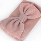 Creations of Grace, Baby Bow Fabric Headband, Blush Pink, 6 1/2 inches, 1 Headband