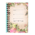 SoulScripts, Burlap and Roses, Spiral-Bound Hardcover Journal, Brown and Pink, 5 1/4 x 8 inches, 160 pages