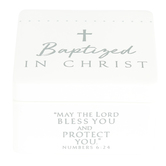 Lighthouse Christian, Baptized in Christ Keepsake Box, Resin, White, 3 1/4 x 2 x 3 1/4 Inches