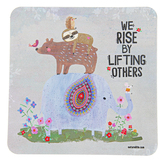 Natural Life, Square We Rise Sticker, Vinyl, 3 1/2 inches